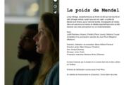 Le poids de Mendel de Marie-Hélène Panisset en tournage