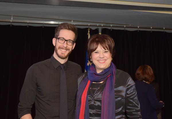 La ministe Hélène David en compagnie de Ian Gailer qui agira comme conseiller spécial pendant la tournée du Québec en 2016