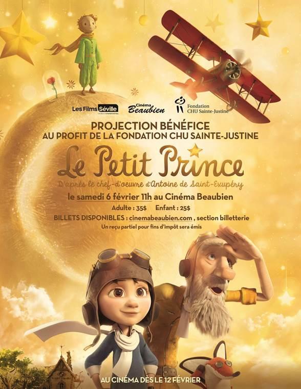 LE PETIT PRINCE, projection bénéfice le samedi 6 février au cinéma Beaubien !