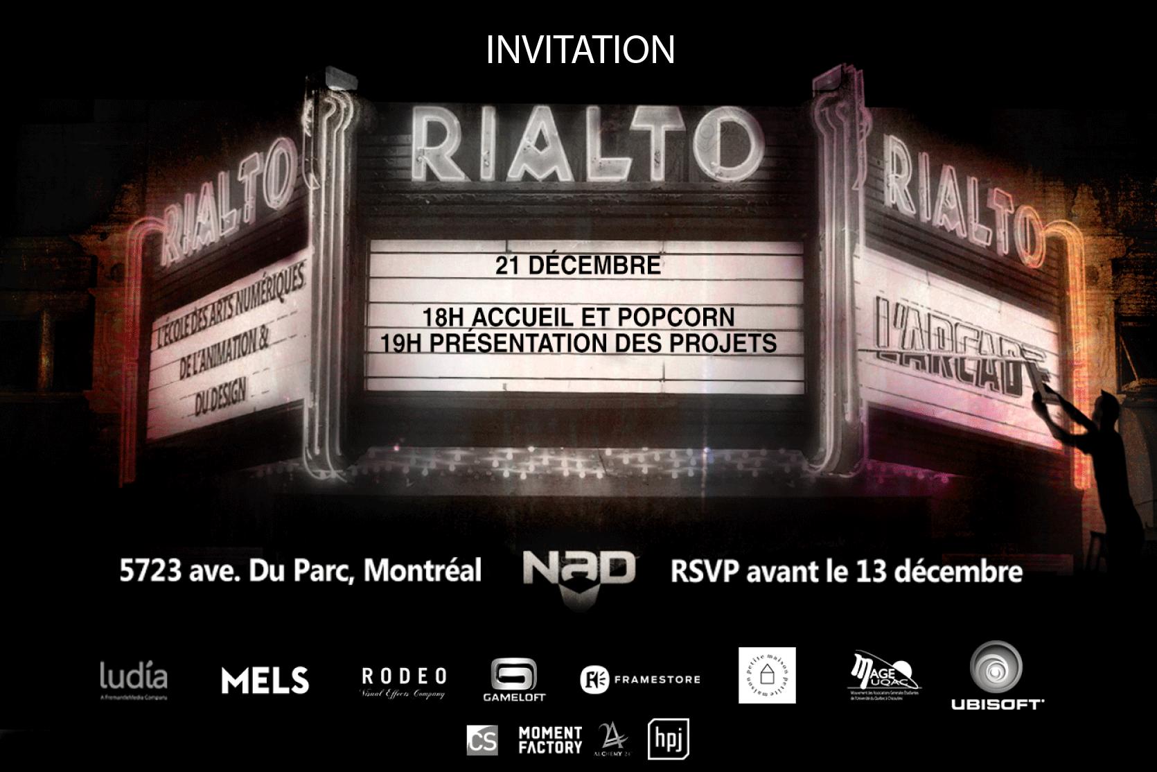 Évènement IMAGINAD le 21 décembre 2016