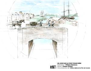 À Pointe-à-Callière, Un jour sur le pont Franchère de Philippe Baylaucq