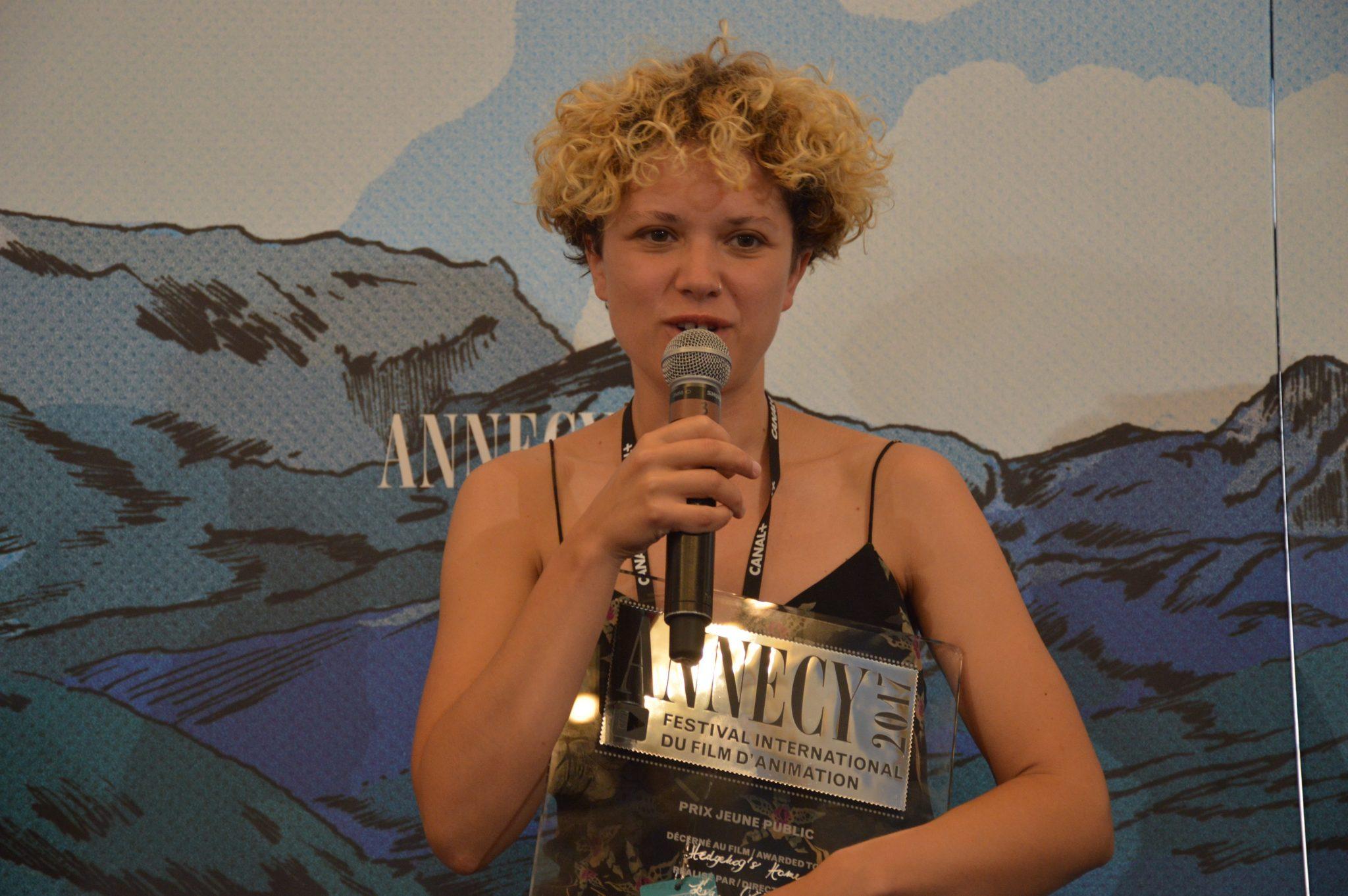 ONF - Eva Cvijanović reçoit le Prix jeune public au Festival d'Annecy