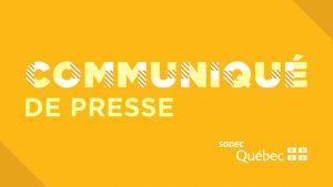 SODEC | Québec crée un programme pour permettre la reprise des tournages pour le cinéma et la télé