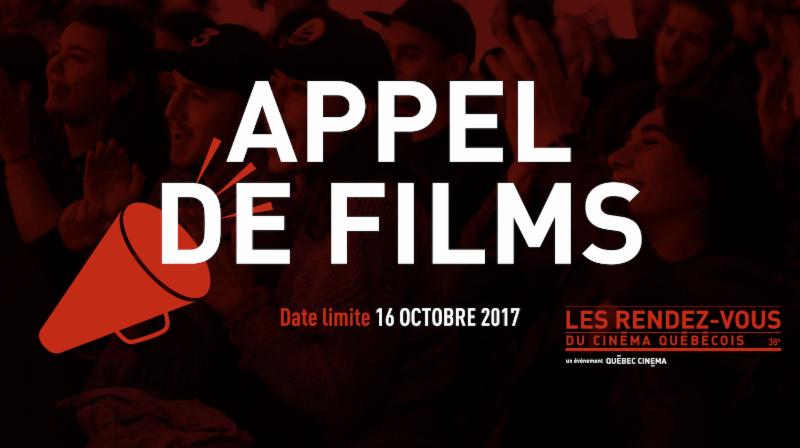 Appel de films des Rendez-vous du cinéma québecois