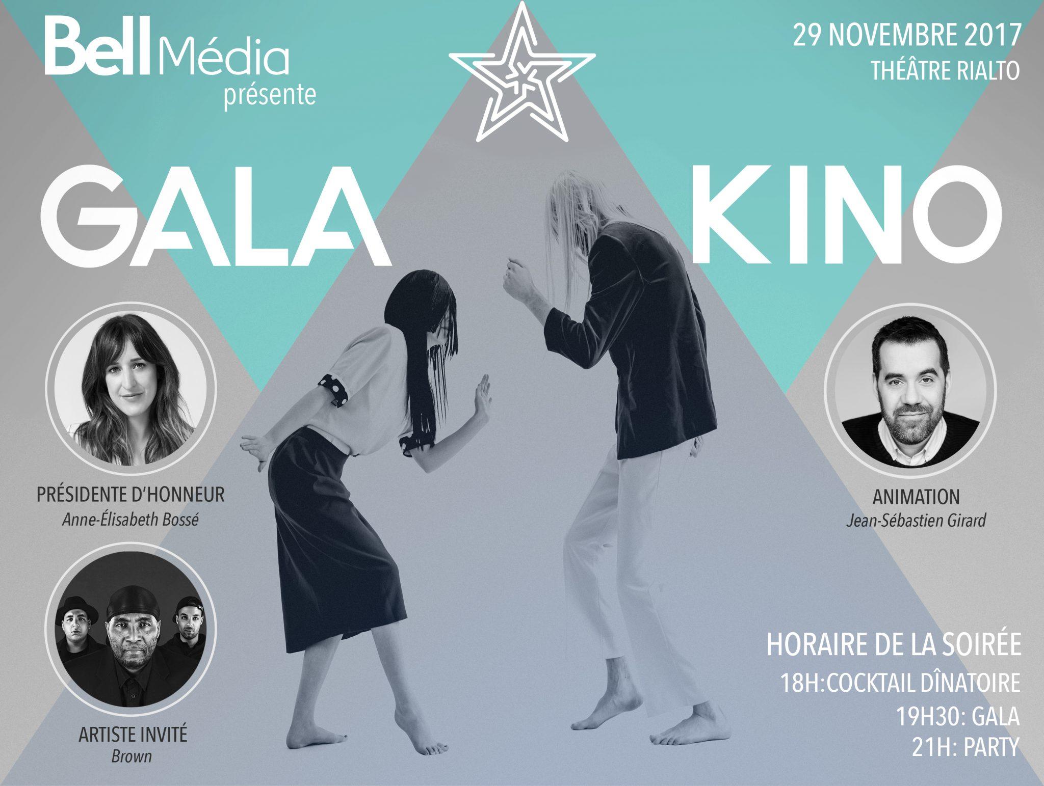 Bell Média et Kino'00 vous invitent au Gala Kino 2017