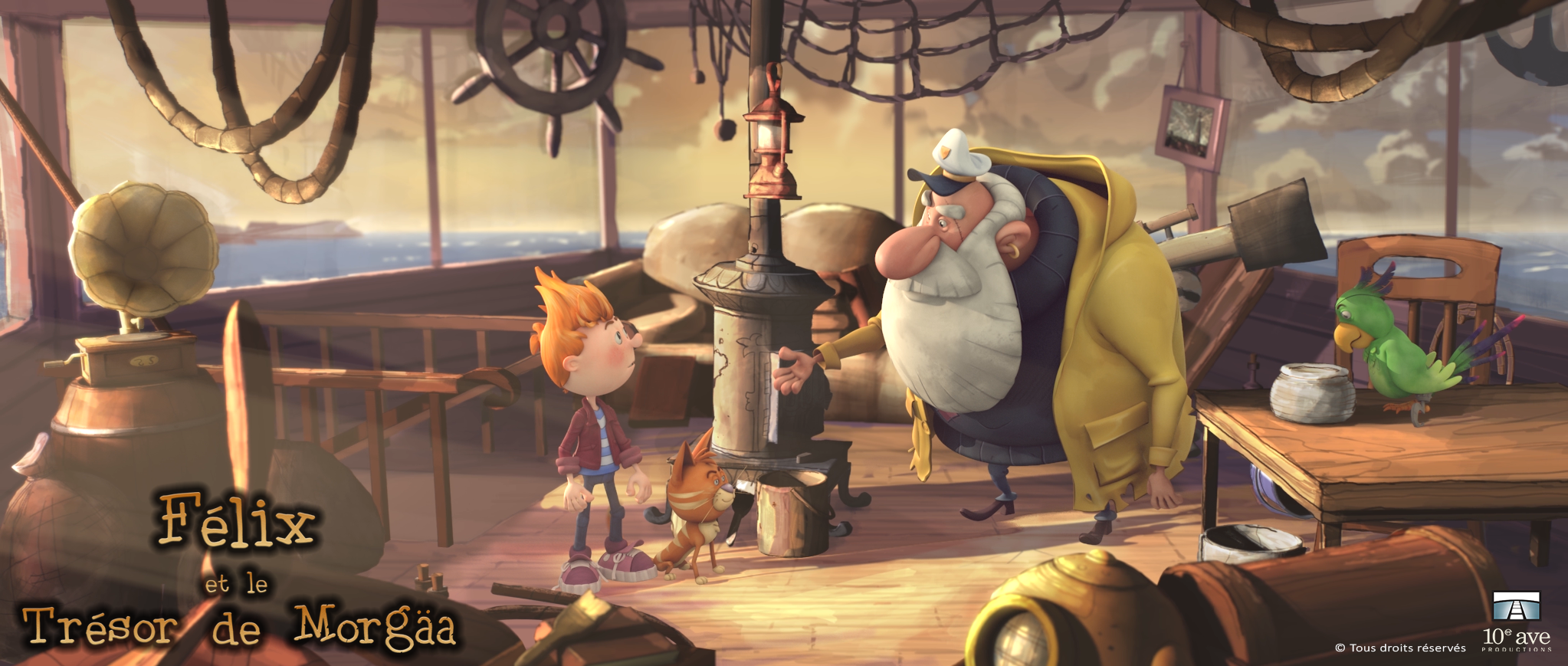 Félix et le trésor de Morgäa, long métrage d'animation retenu par la SODEC