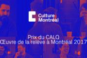 Dévoilement des finalistes du Prix du CALQ 2018