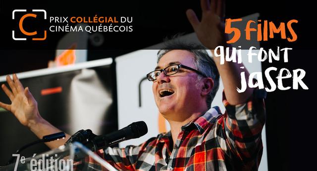 Le Prix collégial du cinéma québécois : les 5 finalistes dévoilés