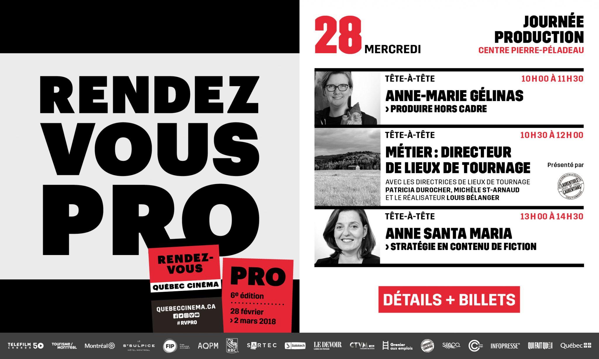 6e édition des Rendez-vous Pro aux Rendez-vous Québec Cinéma 2018!