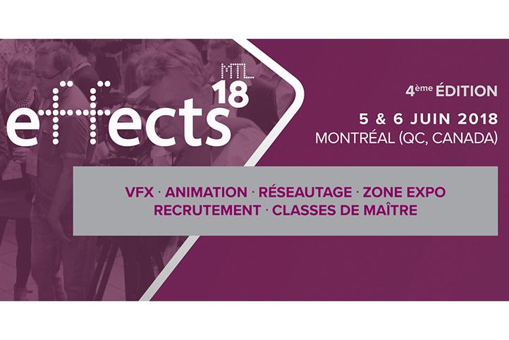 effectsMTL18: appel aux conférenciers pour l'édition 2018