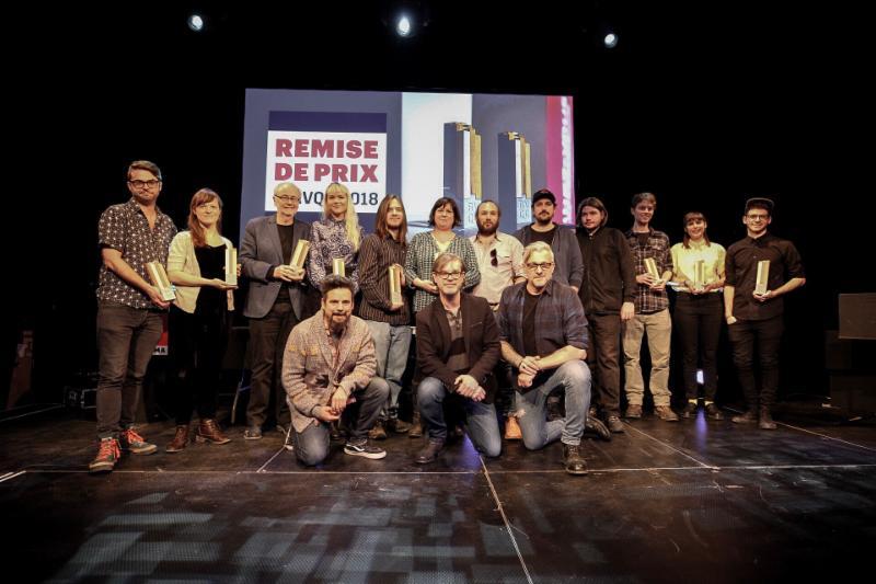 Les prix de la  36e édition des Rendez-vous Québec Cinéma 2018