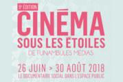 Le Cinéma sous les étoiless'installe dans 15 parcs pour sa 9eédition