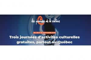 Émilie Bibeau et Laurent Paquin vous invitent à célébrer la culture du 28 au 30 septembre