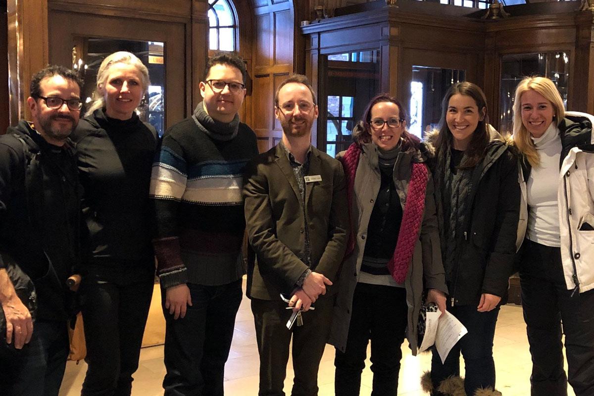 Le BCTQ accueille quatre producteurs étrangers dans le cadre de sa tournée de familiarisation, édition hiver 2019