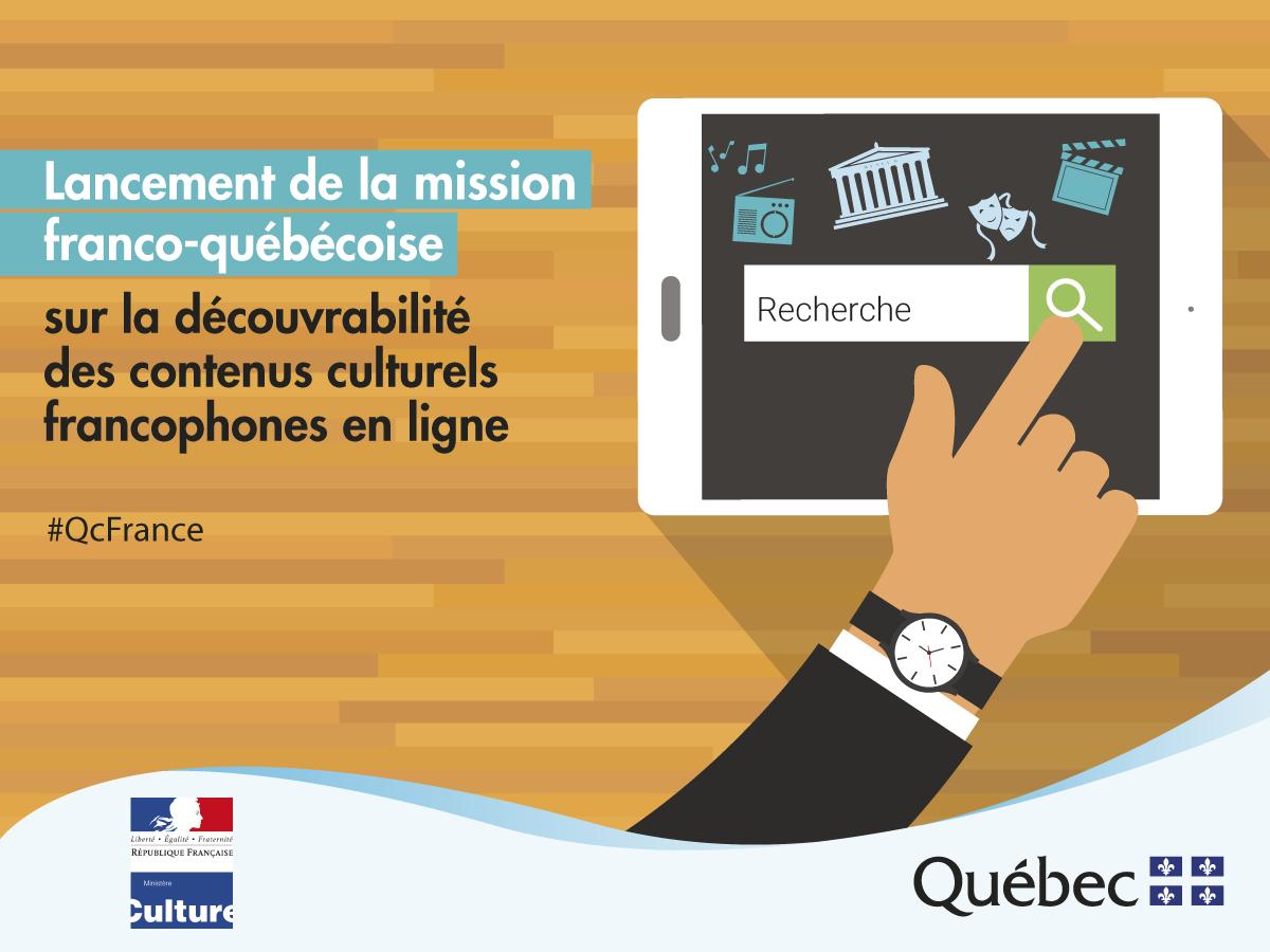 Lancement de la mission franco-québécoise sur la découvrabilité des contenus culturels francophones en ligne