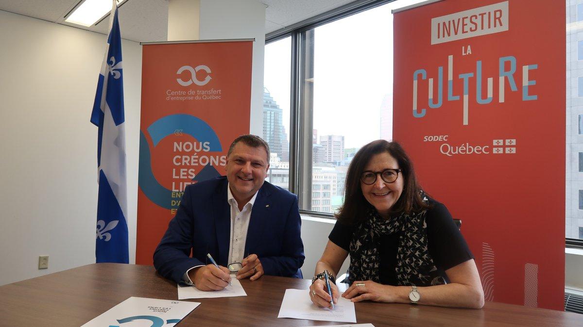 Le Centre de transfert d'entreprise du Québec conclut une entente avec la SODEC