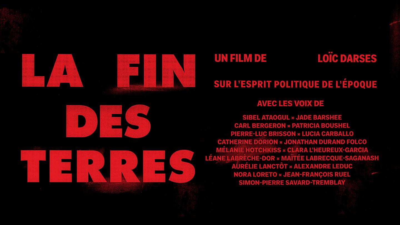 27 mai  2019 – Événement spécial « La fin des terres » de Loïc Darses au Théâtre Outremont