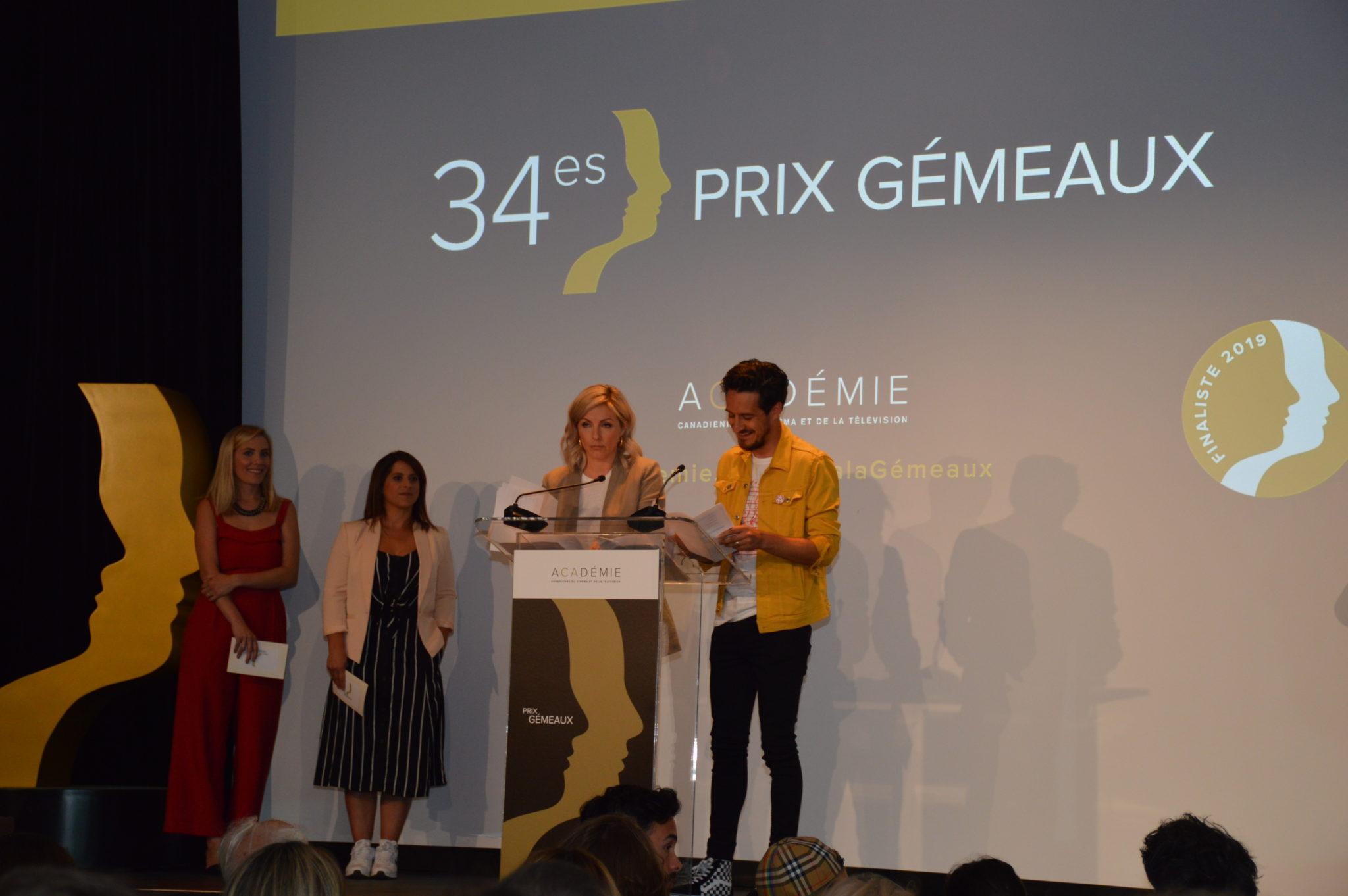 Les finalistes des 34es prix Gémeaux de l'Académie canadienne du cinéma et de la télévision sont...