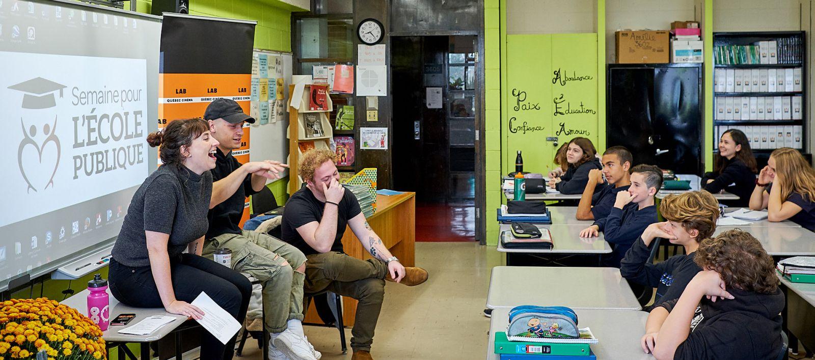 Fort de ses 100000 jeunes rejoints en 15 ans, le Lab Québec Cinéma entame une nouvelle saison!