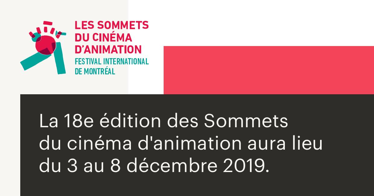 Des événements festifs et rassembleurs pour les 18e Sommets du cinéma d'animation