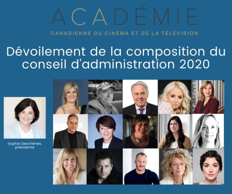 L'Académie au Québec annonce la composition de son conseil d'administration 2020