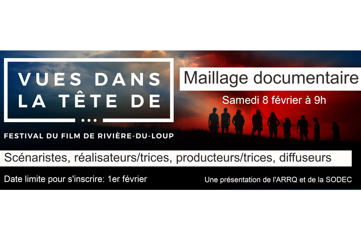 Rencontre de maillage pour les professionnels en documentaire le 8 février 2020 à Rivière-du-Loup