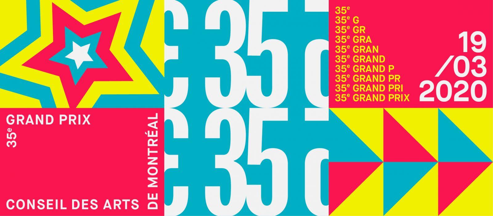 Les finalistes du 35e Grand Prix du Conseil des arts de Montréal sont dévoilés!