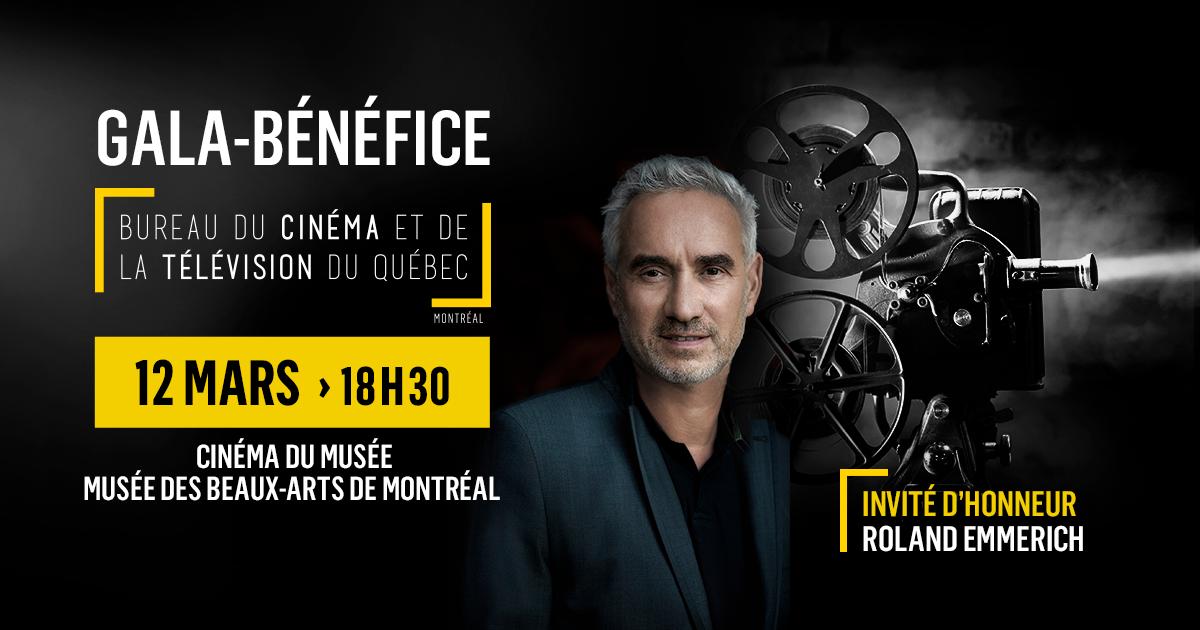 RAPPEL - BCTQ gala-bénéfice: Le réalisateur Roland Emmerich y participera à titre d'invité d'honneur