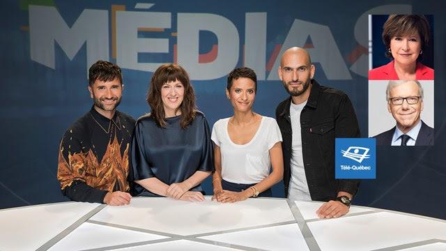 Céline Galipeau et Pierre Bruneau sur le même plateau pour discuter d'information