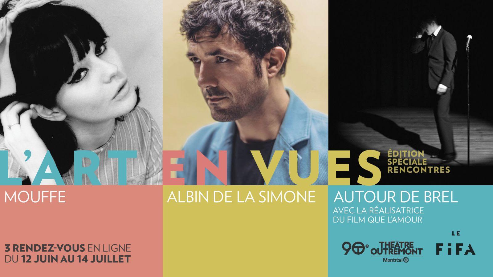 Le Théâtre Outremont et Le Festival International du Film sur l'Art proposent trois rendez-vous exceptionnels