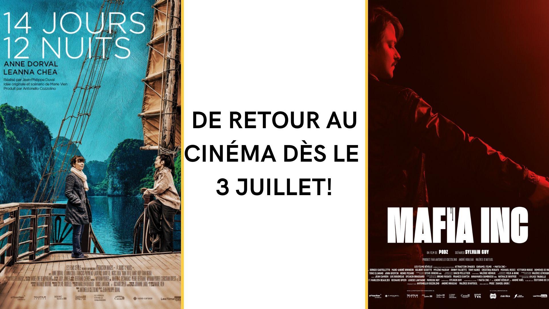 « MAFIA INC » et « 14 jours 12 nuits » reprennent l'affiche en salle partout au Québec