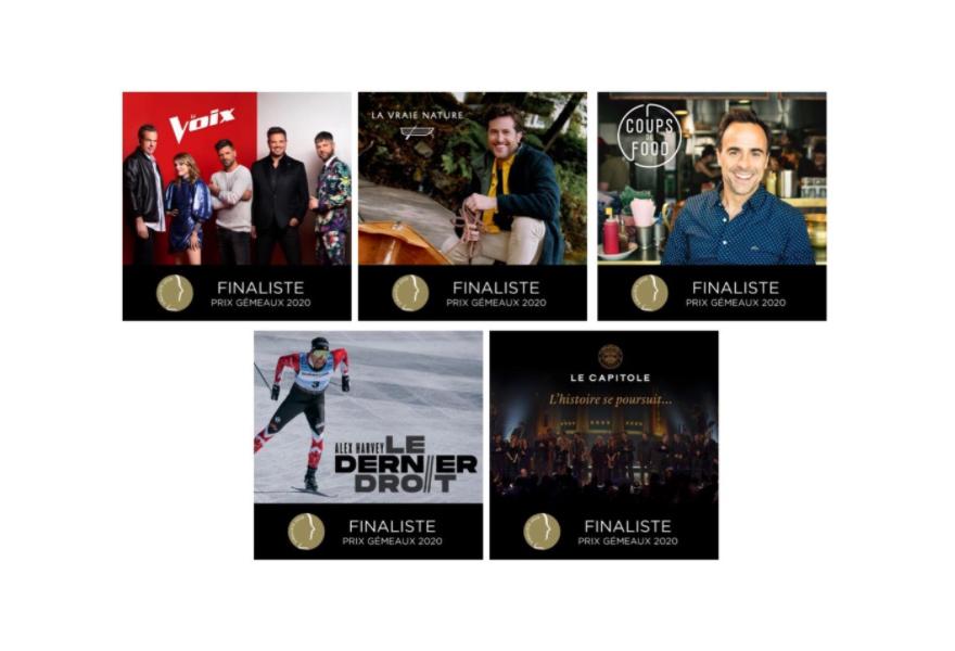 Productions Déferlantes récolte 11 nominations au prochain gala des prix Gémeaux !