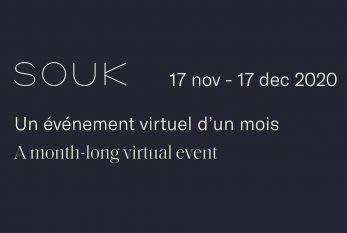La 17e édition du SOUK sera virtuelle,du mardi 17 novembre au jeudi 17 décembre 2020.