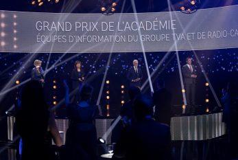 35es prix Gémeaux : les services de l'information du Groupe TVA et de Radio-Canada reçoivent le Grand prix de l'Académie
