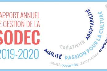 Rapport annuel de gestion 2019-2020 de la SODEC