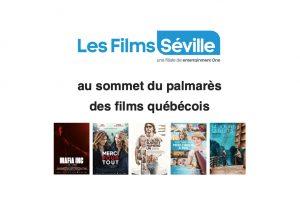 Les Films Séville au sommet du palmarès des films québécois 2020