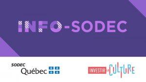 SODEC – Prolongation du programme d'aide temporaire dans le secteur audiovisuel (cinéma et télévision)