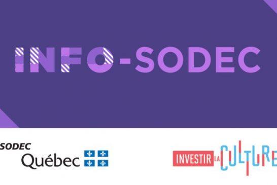 SODEC - Mise à jour des programmes de la direction générale du cinéma et de la production télévisuelle et ouverture du programme d'aide au prédéveloppement de séries télévisées basées sur des adaptations littéraires