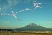 Le mont Fuji vu d'un train en marche au Festival international du film d'animation d'Annecy