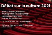 GRAND DÉBAT ÉLECTORAL SUR LA CULTURE - lundi le 13 septembre de 12h à 13h30