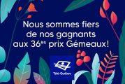Les artisans et artistes de Télé-Québec récompensés par 32 prix Gémeaux